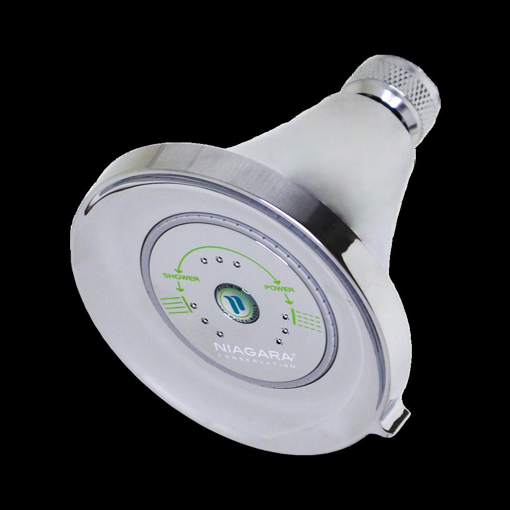 Earth® Luxe 3-Spray Showerhead, 1.5 GPM, Chrome