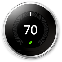 Nest Learning Smart Thermostat - Stainless Steel