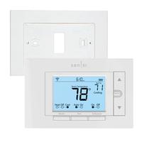 Wallplate for Emerson Sensi Wifi Thermostat, White