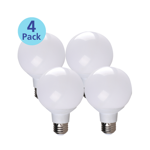 4-Pack Dimmable Globe LED, 6W (40W equiv), 2700K
