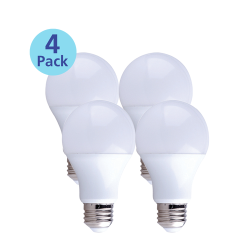 4-Pack Dimmable LED, 15W (100W equiv), 2700K