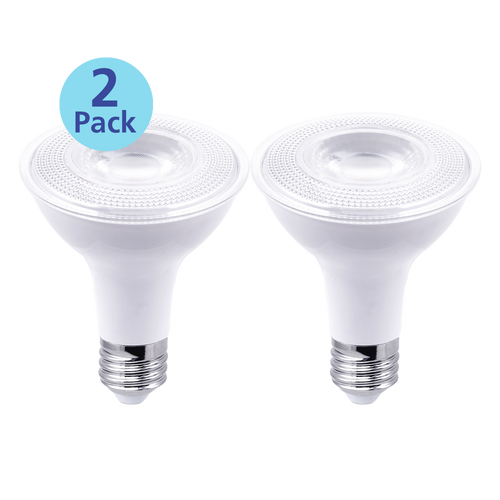 2-Pack Dimmable LED Par30, 11W (75W equiv), 2700K
