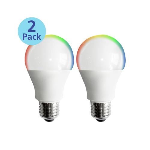 2-Pack Dimmable Smart LED, 9W (60W equiv), 2700K-5000K