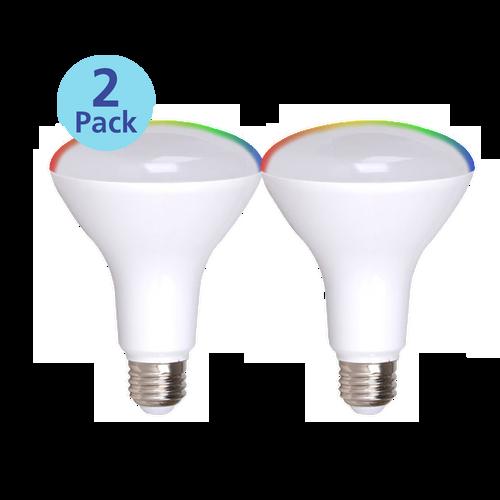2-Pack Dimmable BR30 Smart LED Flood, 8W (65 equiv.), 2700K-5000K