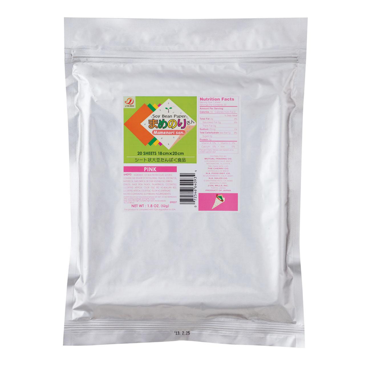 Gluten-Free Mamenorisan Soybean Paper Pink