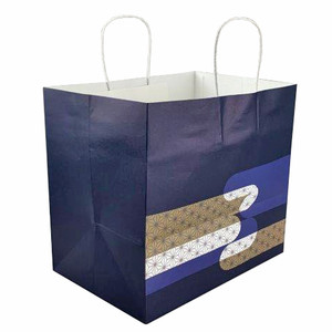 Navy Paper Bags for Takeout