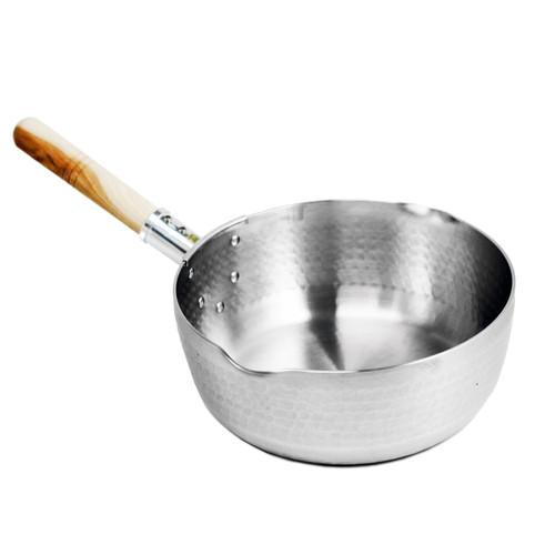 "Yukihira Aluminum Pot with Handle 7"" dia / 1.5-Qt."