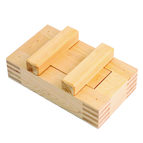 Wooden Battera Rice Press with Lid