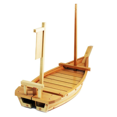 "Wooden Sushi Serving Boat 28.75"" x 11.42"""