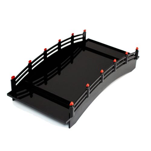 Black Morikomi Sushi Serving Bridge