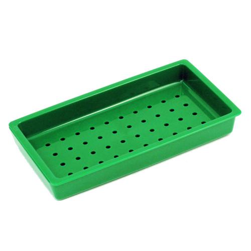 "Green Plastic Sushi Neta Plate 9.06"" x 5.12"""