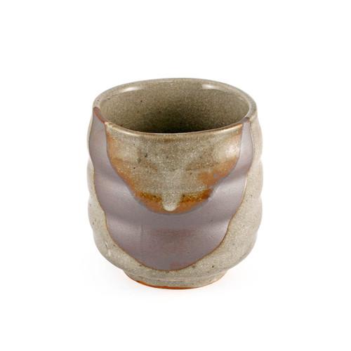"""Gray Brushstroke Tea Cup 12 fl oz / 3.46"""" dia"""