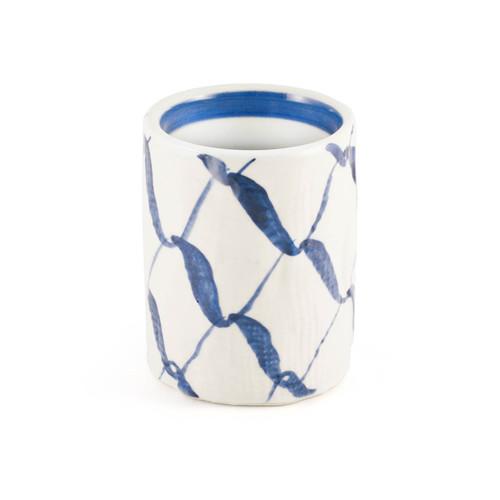 "Blue Weave Tea Cup 12 fl oz / 3.03"" dia"