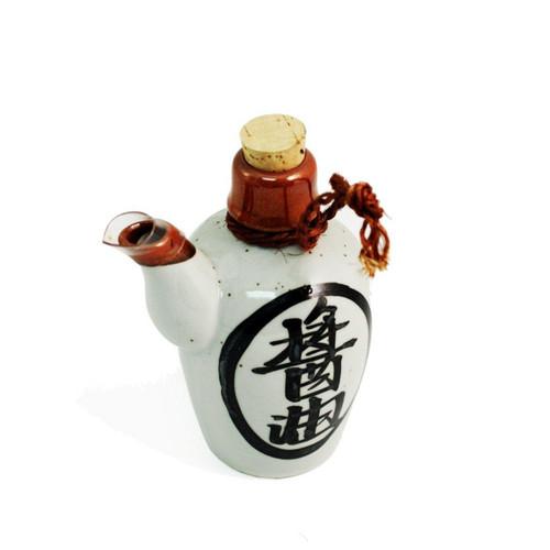 White Kanji Soy Sauce Dispenser 6 fl oz