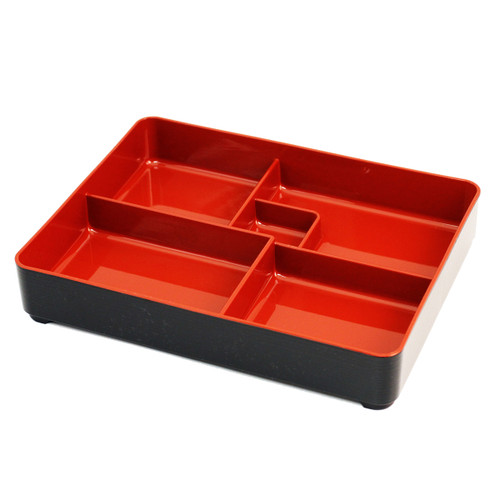 Combination Bento Box with Red Inside