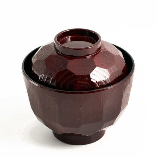 """Textured Red Soup Bowl with Lid 7 fl oz / 3.82"""" dia"""