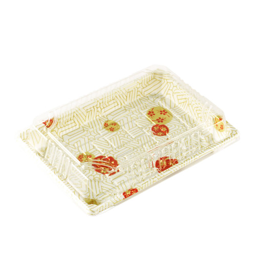 "TZ-W-008 White Take Out Sushi Tray 6.5"" x 4.5"" (440/case)"