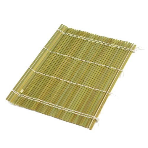 "Half Bamboo Makisu Sushi Rolling Mat 10.5"" x 7"""