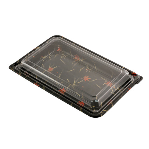 "SUSHI-07 Momiji Leaf Take Out Sushi Tray 9.8"" x 6.3"" (300/case)"