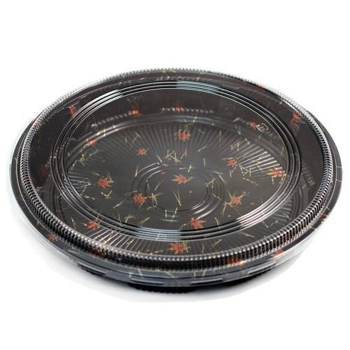 "P-16 Round Momiji Leaf Take Out Platter 15"" dia (100/case)"