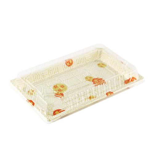 "TZ-W-015 White Take Out Sushi Tray 8.5"" x 5.4"" (300/case)"