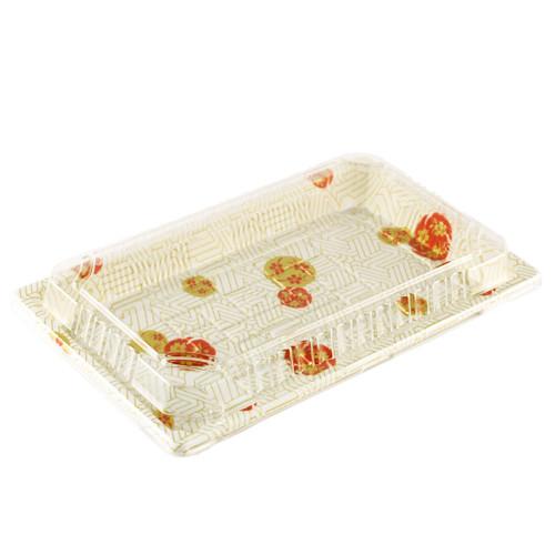 "TZ-W-020 White Take Out Sushi Tray 9.38"" x 5.75"" (240/case)"