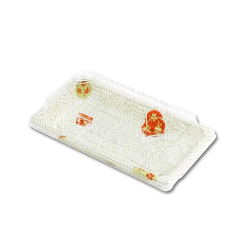 "TZ-W-0.6 White Take Out Sushi Tray 6.4"" x 3.5"" (480/case)"