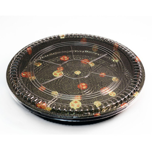 "TZ-65R Round Take Out Platter 15.2"" dia (60/case)"