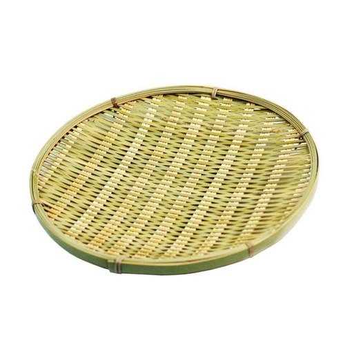 """Round Bamboo Tempura Plate 8.88"""" dia"""