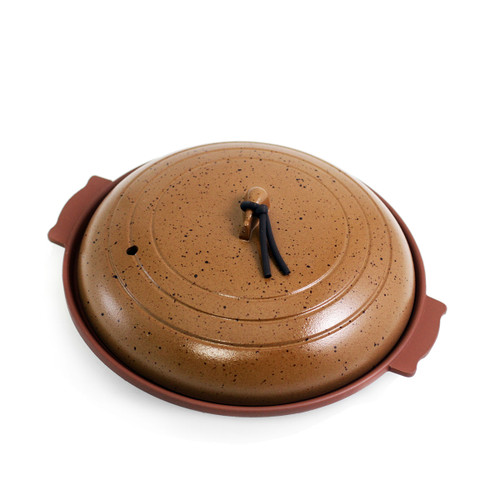 Toban Brown Cast Aluminum Grill Pot