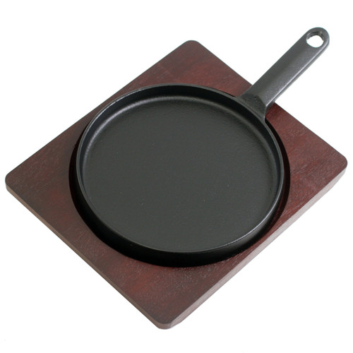 """Round Cast Iron Sizzling Plate 6.61"""" dia"""
