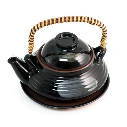 Black Dobin Mushi Pot 8.5 fl oz