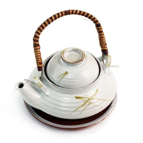 White Dobin Mushi Pot 8.5 fl oz
