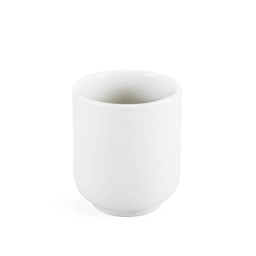 """White Yunomi Tea Cup 5.5 fl oz / 2.56"""" dia"""