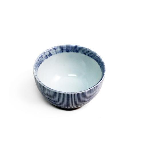 "Bowl with Blue Stripe Border 6 fl oz / 3.74"" dia"