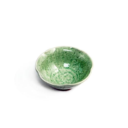 "Cracked Jade Green Bowl 7 fl oz / 4.72"" dia"