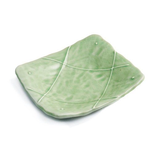 "[Clearance] Cracked Jade Green Plate 5.04"" x 4.45"""