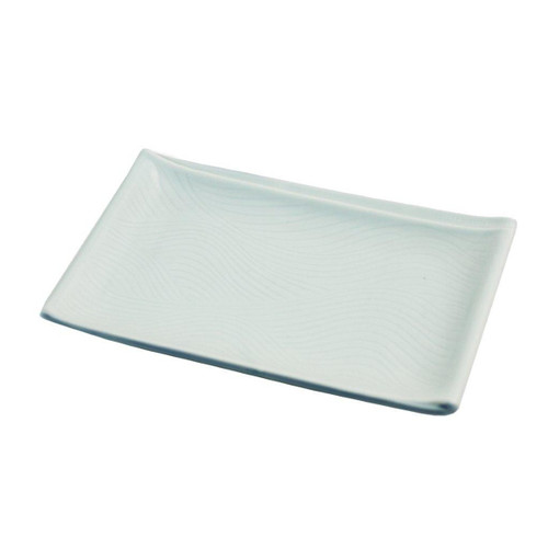 "Light Sage Rectangular Plate 8.07"" x 5.16"""