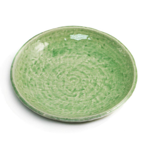 "Cracked Jade Green Plate 7.9"" dia"