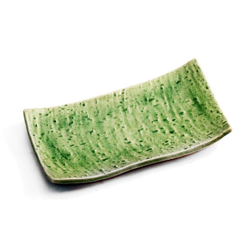 "Cracked Jade Green Plate 7.76"" x 4.06"""