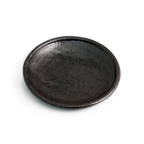 "Matte Black Round Plate 6.18"" dia"