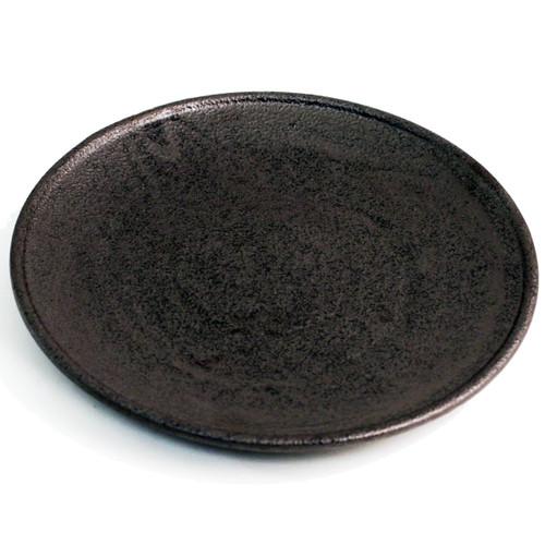 "Matte Black Round Plate 9.8"" dia"