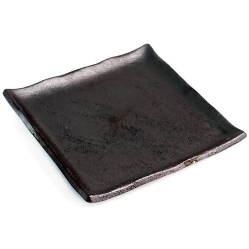 """Matte Black Square Plate 9.13"""" x 9.13"""""""
