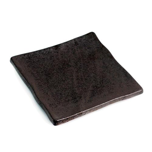 """Matte Black Square Plate  7.1"""" x  7.1"""""""