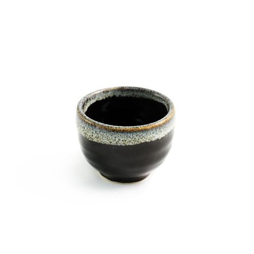 Black & Gray Ceramic Sake Cup 1.6 fl oz