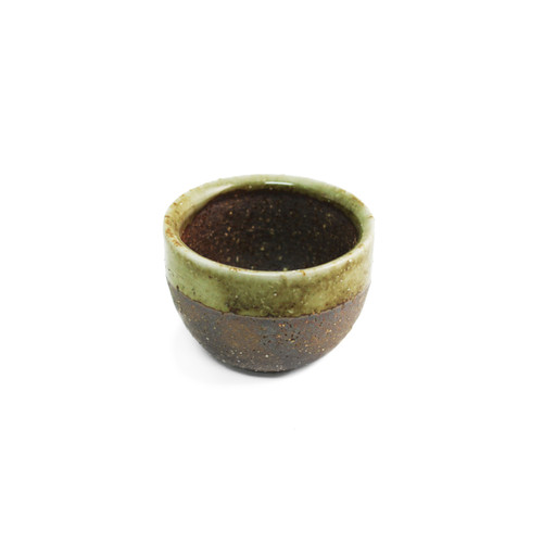 Moss Brown Ceramic Sake Cup 2 fl oz