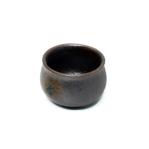 Rusty Brown Ceramic Sake Cup 1.5 fl oz