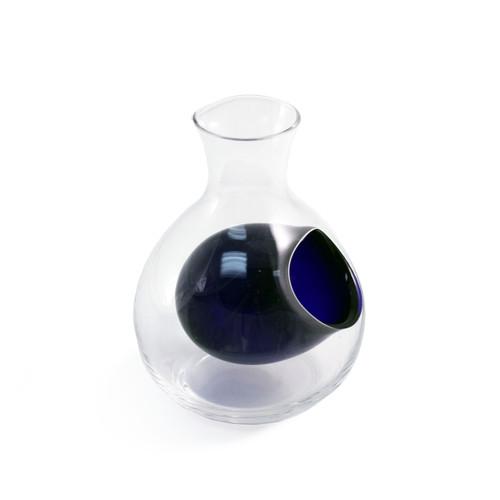 Otsuka Glass Sake Server with Blue Ice Pocket 9 fl oz