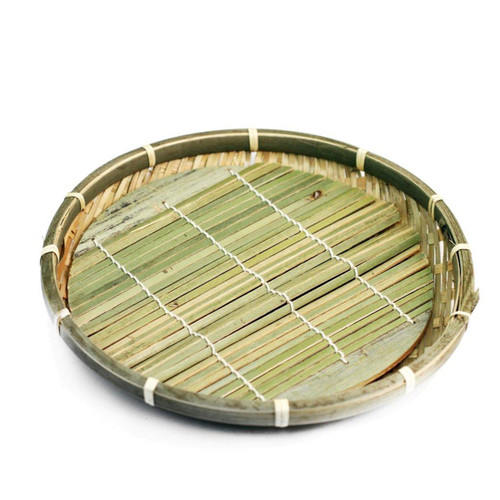 "Large Bamboo Zaru Soba Basket Plate 8.63"" dia"