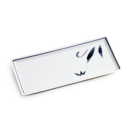 """Rectangular Plate with Orchid 8.5"""" x 3.94"""""""